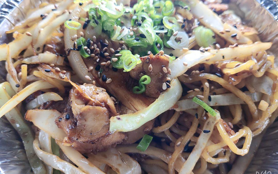 Chicken Stir-Fried (Yaki) Soba