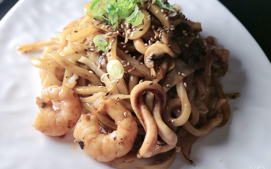 Seafood Stir-Fried (Yaki) Udon