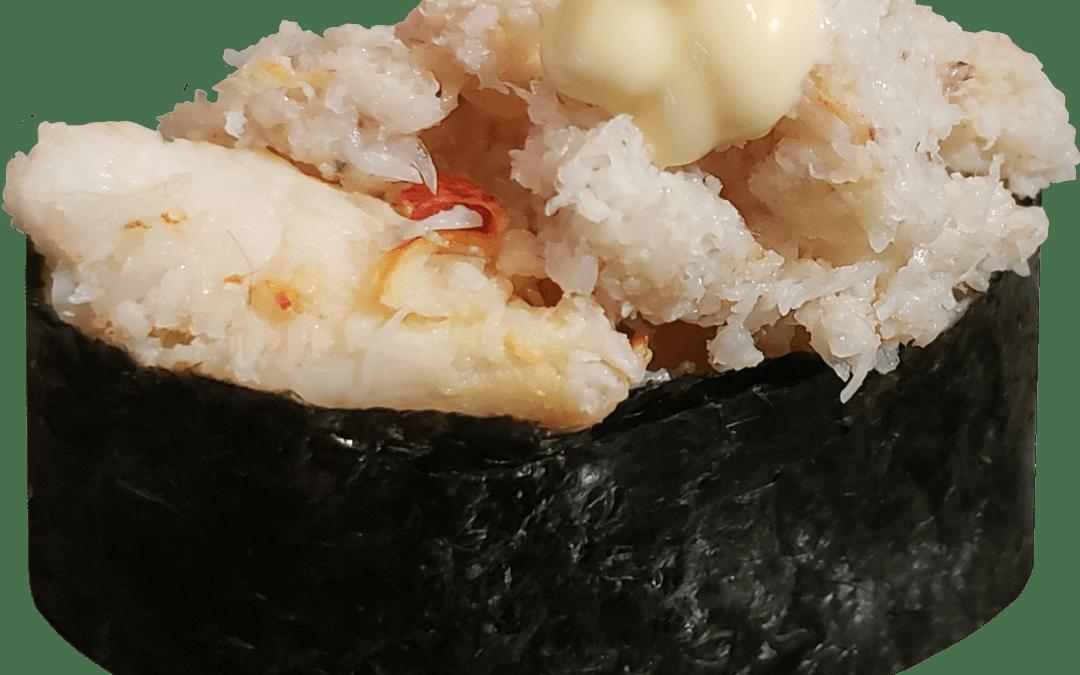 real crab sushi